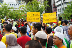 Malaysia rally protest Royalty Free Stock Images