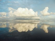 Malaysia - Reflections on the sea surface in Bako National Park, Borneo, Malaysia royalty free stock photo