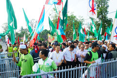Malaysia riksdagsval 2013 Arkivbild