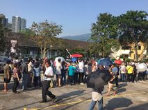 Malaysia riksdagsval 2018/GE 14 Royaltyfri Bild