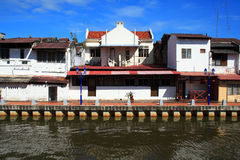 Malaysia Riverside Traditional House Stock Photos