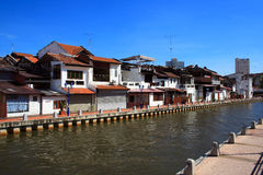 Malaysia Riverside Traditional House Royalty Free Stock Photos