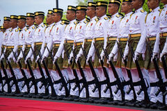 Malaysia Royal Police Marching During Malaysia Independence Day Royalty Free Stock Photos