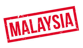 Malaysia rubber stamp Royalty Free Stock Images