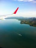 malaysia s för fågelögonliggande tropisk sikt Fartyget i havet Royaltyfria Foton