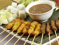 malaysia satay kryddigt Arkivfoto