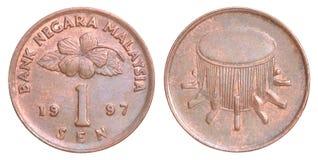 Malaysia sen mynt Arkivfoto