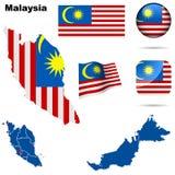 Malaysia set. Stock Photography