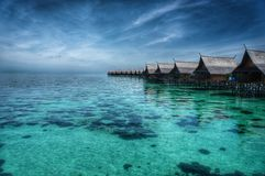 Malaysia Sipadan-Kapalai Dive Resort Royaltyfri Bild