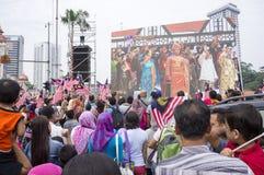 Malaysia självständighetsdagen 57th Arkivfoton