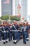 Malaysia ståtar den 57th självständighetsdagen Royaltyfri Fotografi