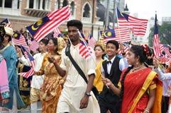 Malaysia ståtar den 57th självständighetsdagen Royaltyfria Foton