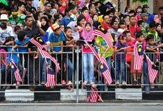 Malaysia ståtar den 57th självständighetsdagen Royaltyfri Bild