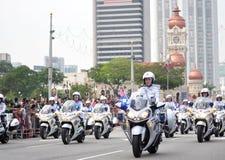 Malaysia ståtar den 57th självständighetsdagen Arkivbilder