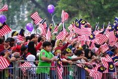 Malaysia ståtar den 57th självständighetsdagen Arkivfoto