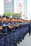Malaysia ståtar den 57th självständighetsdagen Arkivbild