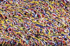 Malaysia students waving ribbons Kuala Lumpur Merdeka Square stock photo