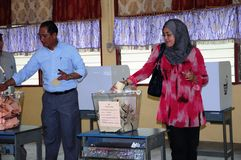 Malaysia 13th General Election 2013 Polling Day Royalty Free Stock Photo