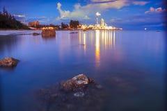 malaysia Tramonto al metanolo Labuan di Petronas Fotografia Stock Libera da Diritti
