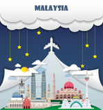 Malaysia travel background Landmark Global Travel And Journey In Stock Photos