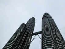 Malaysia twin tower from bttom. Malaysia famous place - Twin tower Stock Photos