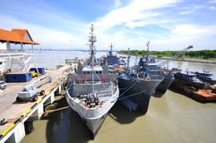 Malaysia Warship in Port Klang Harbour 2 stock image