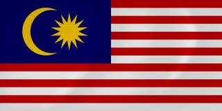 Malaysia waving flag Royalty Free Stock Image