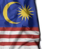 malaysia wrinkled flag, space for text Royalty Free Stock Images