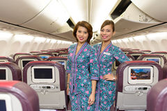Malaysian Airline crew members Royalty Free Stock Photos