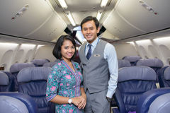 Malaysian Airline crew members Stock Image