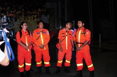 Malaysian Airline Flight MH370 -  Rescue Team Stock Image