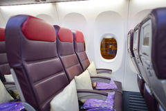 Malaysian Airlines Boeing 737 interior Royalty Free Stock Photography