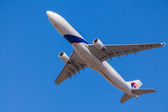 Malaysian Airlines plane approaching to landing at Melbourne Airport Stock Image