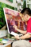 Malaysian Arts at Central Market Kuala Lumpur Royalty Free Stock Photos