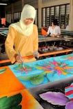 Batik hand painting Stock Photo