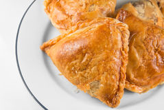 Malaysian cakes, crispy curry puff pastry Royalty Free Stock Image