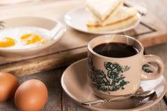 Malaysian Chinese coffee and breakfast Stock Photo