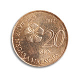 Malaysian coin. Royalty Free Stock Photo