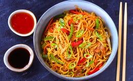 Free Malaysian Cuisine Hakka Noodles Royalty Free Stock Image - 137568836
