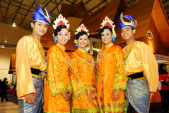 Malaysian cultural outfits Stock Images