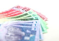 Malaysian currency Royalty Free Stock Photos