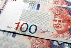 Malaysian Currency. RM$100 Malaysian Ringgit Royalty Free Stock Photo