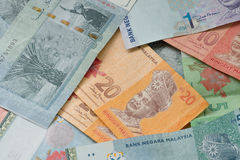 Malaysian currency Stock Photography