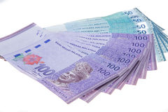 Malaysian currency Stock Images