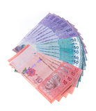 Malaysian currency. On white backgorund Royalty Free Stock Image