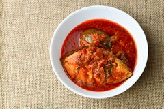 Malaysian Dish `Asam Pedas Royalty Free Stock Photos