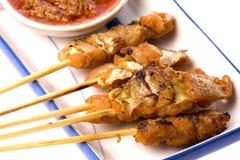 Malaysian Fish Satay stock photo