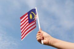 Malaysian flag Royalty Free Stock Photo