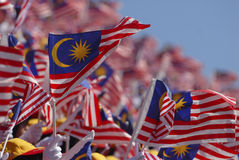 Malaysian flag stock images
