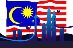 Malaysian Flag Royalty Free Stock Photo